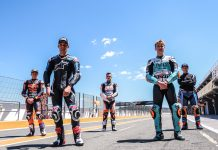 Cinco pilotos de moto2 y moto3 comienzan a rodar en el Circuit de Cheste