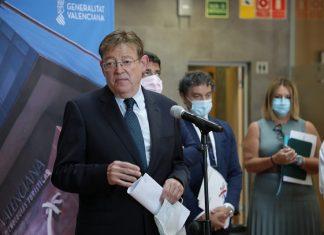 El President Puig en la reunión del Consejo Turístico en Benidorm en el que ha anunciado, en relación al Plan Estratégico de Turismo