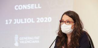 Oltra: 'La mascarilla es nuestra única vacuna contra la COVID-19, por lo que habría que poner de moda nuevamente el eslogan 'póntela, pónsela''