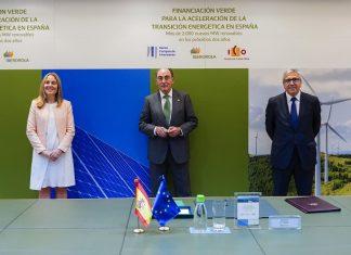 Iberdrola suscribe financiación con el BEI e ICO por 800 millones de euros para impulsar la recuperación verde en España