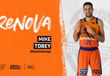 Mike Tobey prolonga su contrato con Valencia Basket dos temporadas más