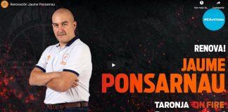 Jaume Ponsarnau dirigirá por tercera temporada el primer equipo masculino de Valencia Basket