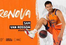 Sam Van Rossom prolonga su contrato con Valencia Basket una temporada más