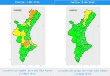 Sanidad mantiene la alerta sanitaria por calor alto en 7 comarcas la Comunitat Valenciana