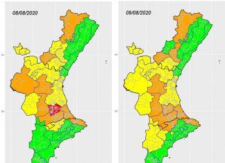 Sanidad activa la alerta sanitaria por calor alto en 14 comarcas la Comunitat Valenciana