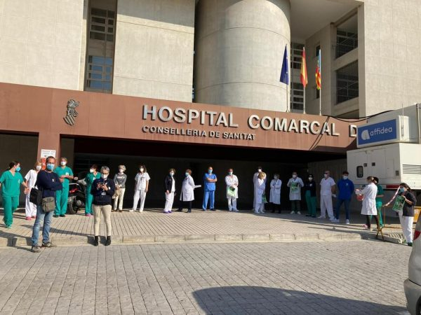 Hospital Comarcal de Vinaròs, ayer.