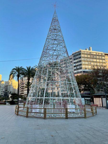 Arbol Navidad Ayuntamiento de Valencia 2020. ValenciaNews