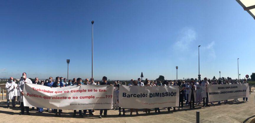 """Los trabajadores del Hospital de La Ribera denuncian el abandono sistemático de Sanitat: """"la Conselleria no tiene ninguna voluntad negociadora"""""""